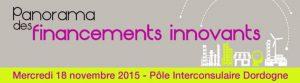 Panorama des financements innovants  18  novembre 2015