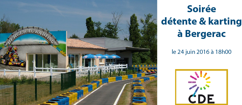 Soiree du CDE24 au circuit de karting de Bergerac