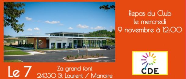 Dejeuner du CDE24 au restaurant Le 7